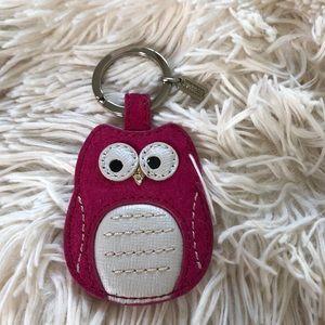 Coach owl keychain